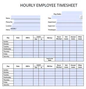9 blank timesheet templates free sample example format