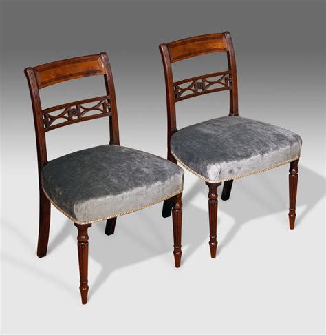 pair of antique dining chairs regency dining chairs pair