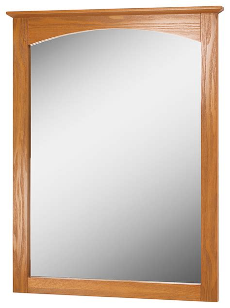 Oak Bathroom Mirrors Worthington 25 Quot Oak Mirror Transitional Bathroom Mirrors By Foremost