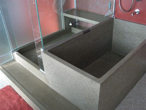 concrete bathtub concrete tub