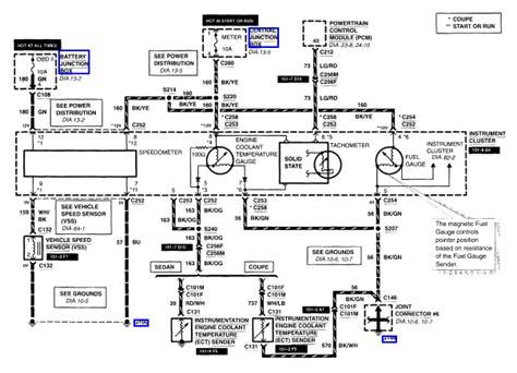 transmission control 1997 ford escort instrument cluster alldatadiy com 2001 ford escort zx2 l4 2 0l dohc vin 3 instrument cluster