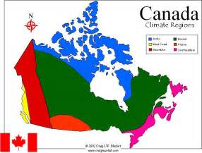 canadainfo geography maps maps climate