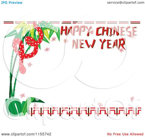 new year border free vector of a happy new year greeting and snake
