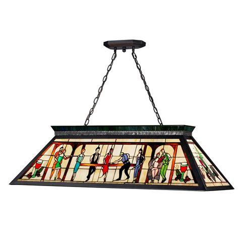 Black Island Light Filament Design Play 4 Light Matte Black Island Light Cli Jb 026726 The Home Depot