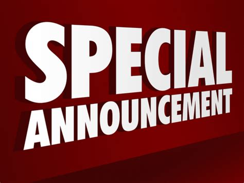 image gallery special announcement