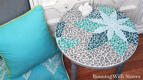 how to a mosaic table top how to mosaic a table running with