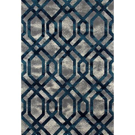 blue fretwork rug carpet bastille fretwork gray blue 3 ft 11 in x 5 ft