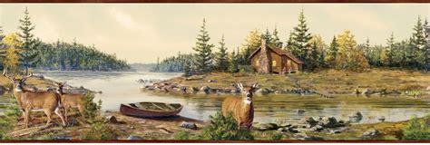 Cabin Creek by Cabin Creek Deer Wallpaper Border