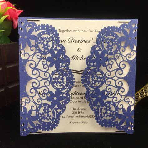 Cheap Wedding Invitations Blue by Get Cheap Navy Blue Wedding Invitations Aliexpress