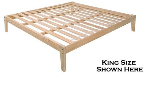 pine platform bed the plateau the ultimate pine platform bed