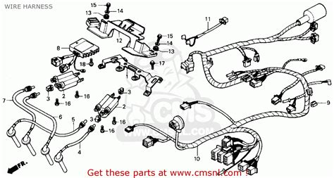 honda cbr parts honda cbr600f hurricane 1990 l usa wire harness