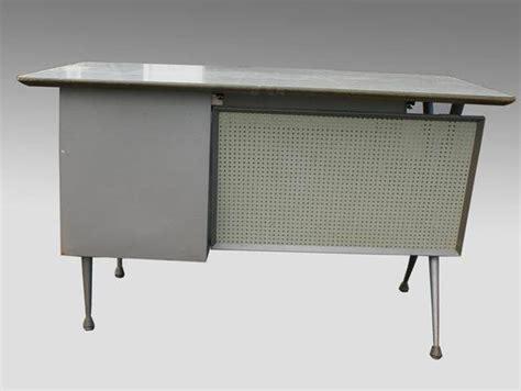 modern metal desk mid century modern raymond loewy industrial metal desk ebay