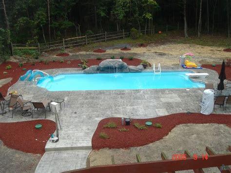 backyard masters farmingdale ny get this quot dallas quot san juan fiberglass in ground pool at