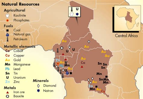 africa map resources africa s resources