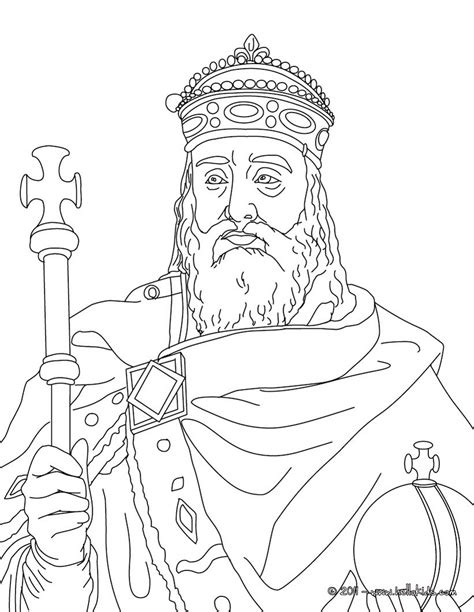 king charlemagne coloring pages hellokids com
