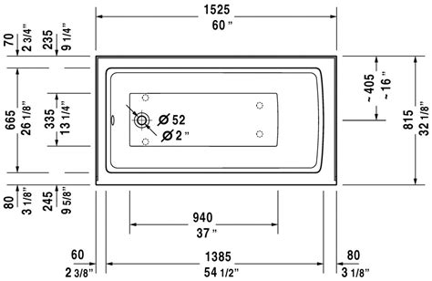 bathtub dimensions inches faucet com 700354000000090 in white by duravit