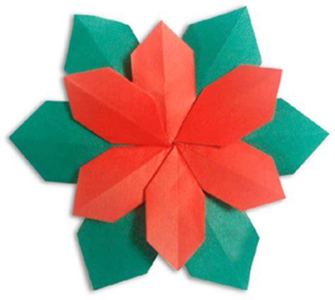 Poinsettia Origami - origami poinsettia