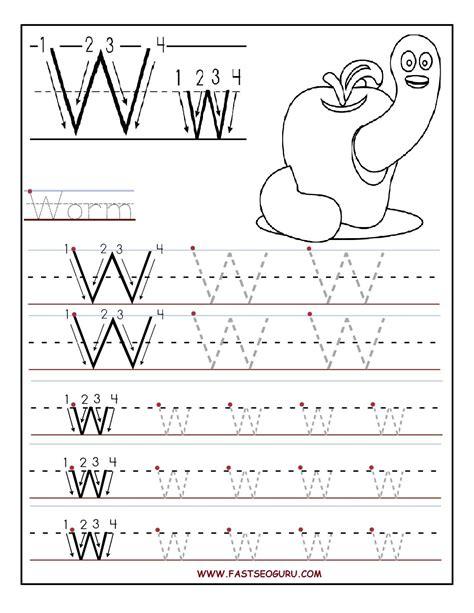 for preschool letter w worksheets for preschool kindergarten printable