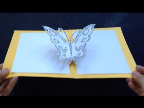 butterfly pop up card template easy butterfly kirigami pop up card diy birthday day gift