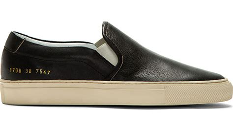Common Projects Slip On common projects black leather slip on available to shop now cult edge