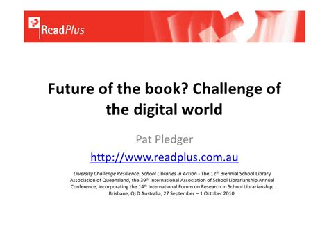 after the digital futures books future of the book challenge of the digital world