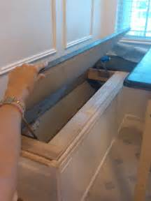 Build A Banquette Storage Bench by Banquette Is Complete And Drill