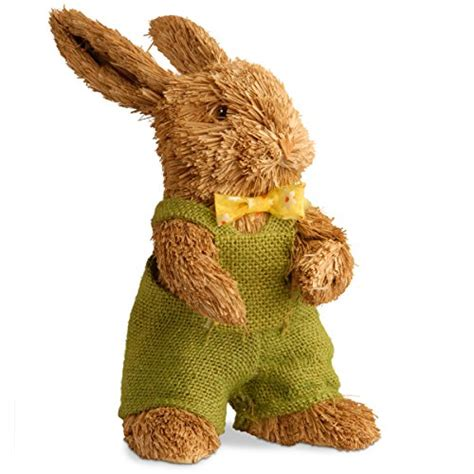 Overal Rabbit 1 galleon national tree 11 inch brown standing rabbit with