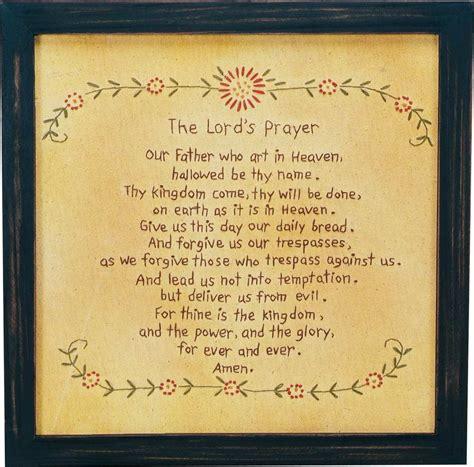 The Lord Prayer stitchery the lord s prayer primitives by kathy