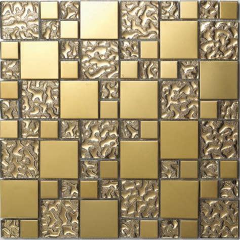 fliesen aus glas glas mosaik fliesen edelstahl vergoldet mosaik