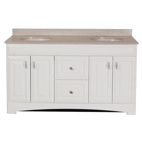 St Paul Home Depot by St Paul Providence 60 In Vanity In White With Colorpoint