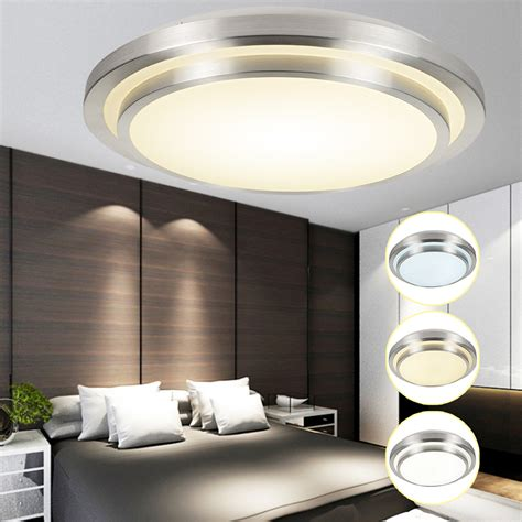Led Bedroom Ceiling Lights Uk Dimmable 12w Led Morden Ceiling Light Panel Flush Mounted