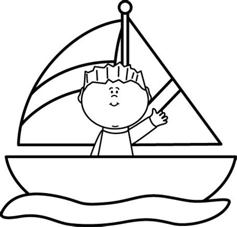 boat clipart black sailboat clipart black and white clipground