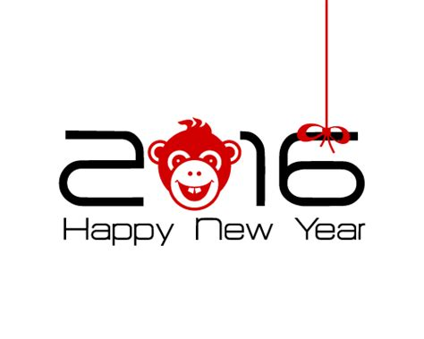 new year 2016 monkey free vector 2016 year of the monkey vector material 02 vector