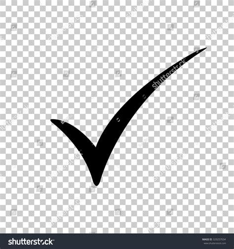 Black Check Transparent Background Check Vector Icon Black Illustration Stock Vector 329257034