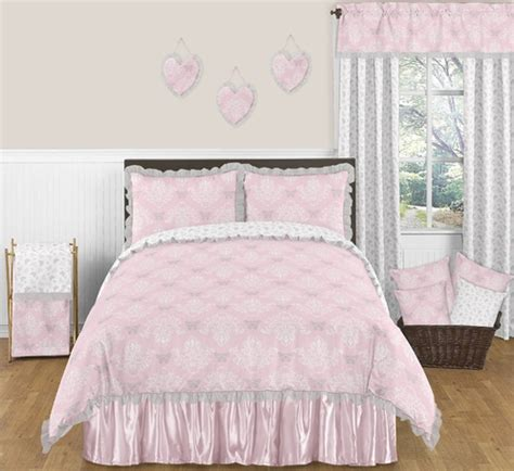 gray and pink comforter set pink and gray alexa butterfly 3pc full queen girls