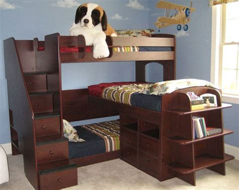 Small Childrens Bunk Beds Small Kuds Room Shaped Corner Kid Bunk Bed Modern Small Room Idea Via Gus Toddler
