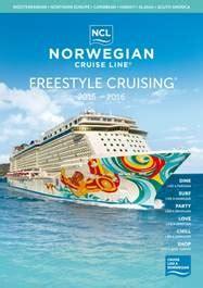 norwegian cruise brochure norwegian cruise line brengt 2015 2016 brochure uit
