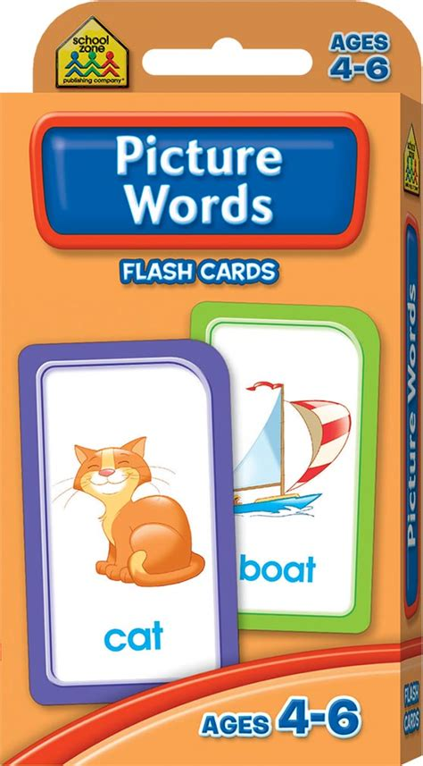 Flash Card Schoolzone 9 school zone picture words flash cards flash cards educational children hinkler