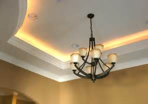 alcove tray ceiling using rope light rope light