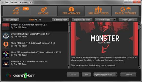 full version minecraft launcher feed the beast launcher download