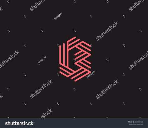 universal pattern en français abstract letter b logo design line stock vector 304556438