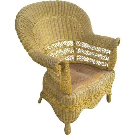 vintage wicker chair antique wicker arm chair circa 1890