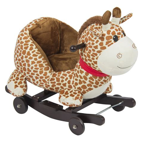 Stuffed Animal Chairs by Giraffe Animal Rocker W Wheels Children Ride On