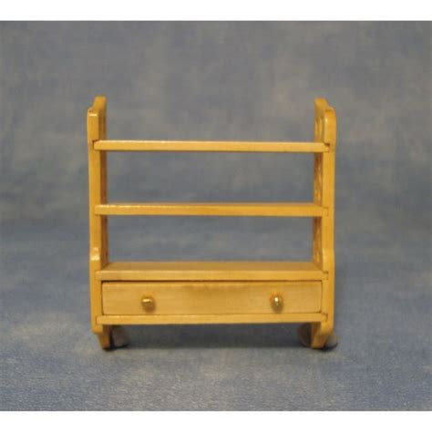small wall shelf unit for dolls house furniture df282p