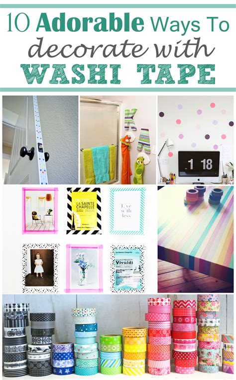 add colour themes to tagxedo washi tape diy room decor bedroom review design