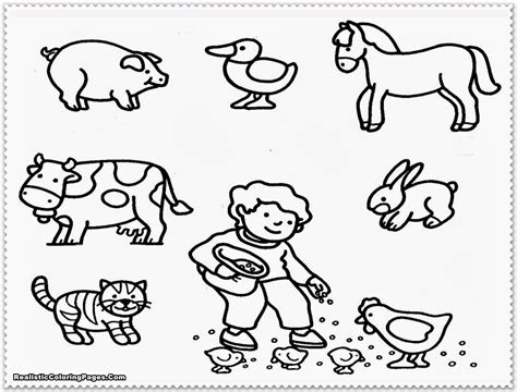 farm animal coloring pages for preschoolers kids