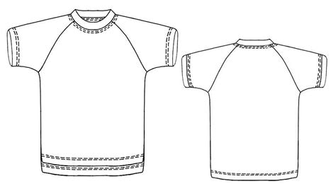 t shirt pattern download t shirt with raglan sleeves sewing pattern 6107 made