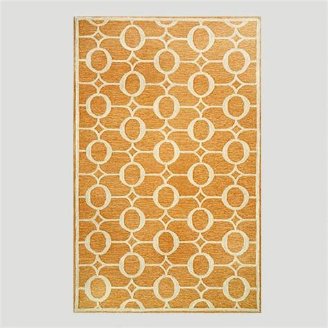 Orange Indoor Outdoor Rug Orange Arabesque Indoor Outdoor Rug World Market