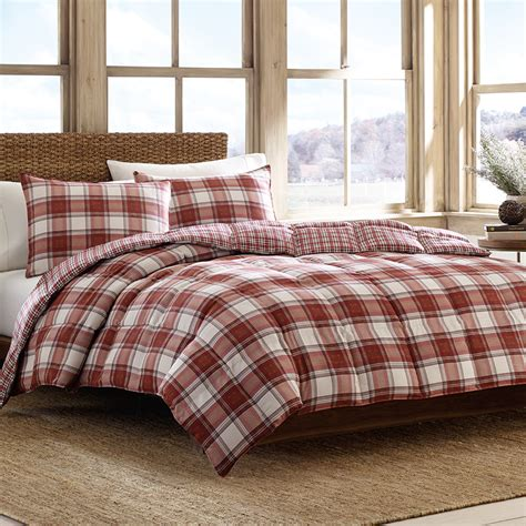 plaid bed eddie bauer edgewood plaid comforter set from beddingstyle