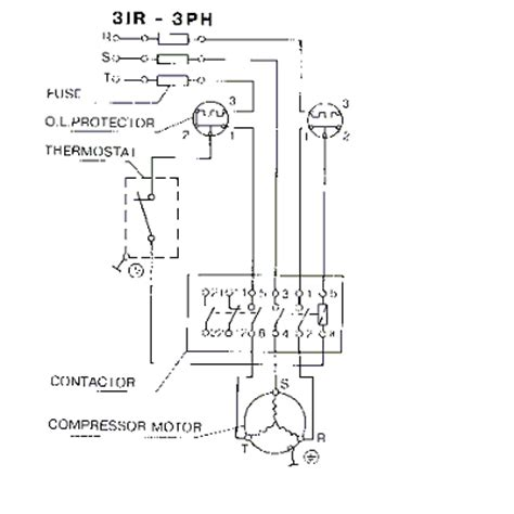 3 phase compressor wiring diagram 33 wiring diagram